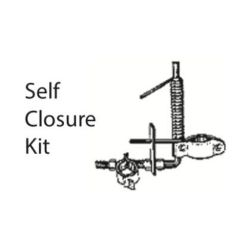 chain link self closure gate kit